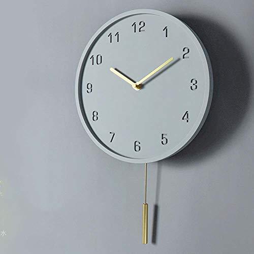 ETH Esmalte Redondo Y Cobre Reloj Digital De Cemento Oscilante Reloj De...