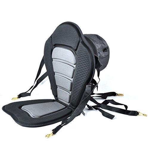 iGuerburn Verstellbare, Gepolsterte Kajak Sitz Sitzboot mit Abnehmbarem Kanu Rückenlehne Sitz Tasche