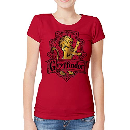 HARRY POTTER Gryffindor - Brave T-Shirt Femme Rouge XXL