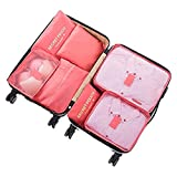 Travel Organiser,DoGeek Travel Essentials Bag 7pcs Packing Cubes for Travel Waterproof Polyester Storage