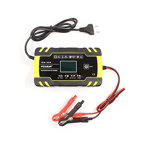 ghfcffdghrdshdfh Car Pulse Repairing Battery Charger with LCD Display Acid Battery Charger -