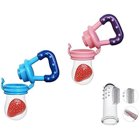 swesy frutta e verdura Fedder in silicone a forma di bambino ciuccio Roditrice Gum Massaggiagengive per bambini