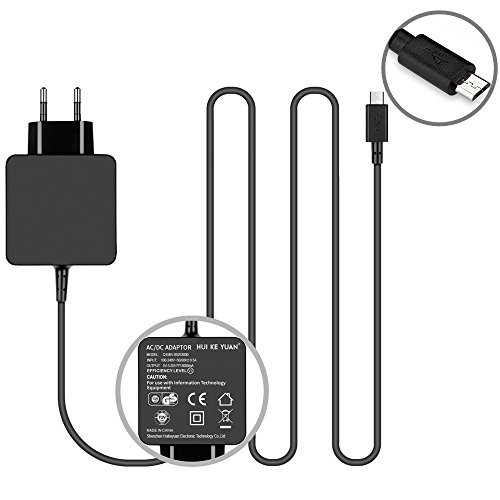TUV GS HKY 5,25V 3A Micro USB Rapid Quick Netzteil Ladegerät ladekabel für HP Chromebook 11 G1 G2 11-1101 11-1102 11-1101US 11-1121us 11-2010nr 11-2110nr 11-1126GR 11-1126UK; Asus T100 T100T - G1 Transformers Serie