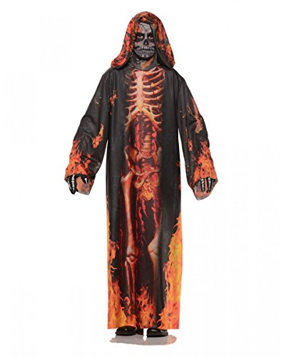 Feuergeist Kinderkostüm für Halloween L (Flamme Lehren)