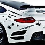 DESIGN FREUNDE KFZ Aufkleber Autosticker Sticker Aufkleber Car Design Auto Autoaufkleber Folie Autotuning Tuning Schußlöcher Aufkleber Schußlöcher Deft