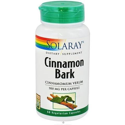 Solaray CINNAMON BARK 500 MG 60 CAPSULES by Nutraceutical