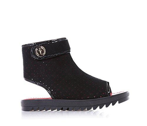 CESARE PACIOTTI - Sandalo nero, traforato in camoscio, riconoscibile dalla ricercatezza dei materiali utilizzati e dal design unico, Donna, ragazza, Bambina-35