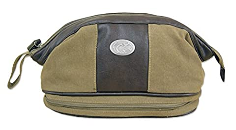 NCAA Southern Mississippi Golden Eagles Men's Canvas Concho Toiletry Bag, Khaki, One Size