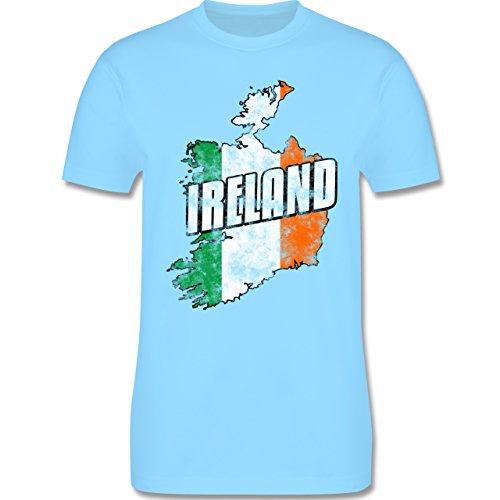 EM 2016 - Frankreich - Ireland Umriss Vintage - Herren Premium T-Shirt Hellblau