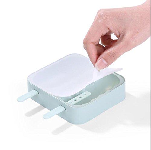 al marcaron Farben DIY Popsicle Maker BPA-frei FDA Lebensmittelqualität Material Platinum Silikon Ice IOP Maker Schimmel Set der 2DROP Widerstand Eis Form mit Staub Cover grün (Schimmel Führen)