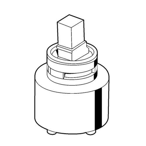 Kludi – Kartusche für Einhebelmischer, Heißwasserbegrenzung, Ø 35 mm - 2