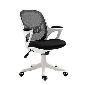 RUNXIAN Simple ordenador silla ergonómica Silla de oficina que compite con la computadora Silla respaldo y el asiento Altura Silla de oficina pausa for el almuerzo ajustable Silla reclinable mecedora