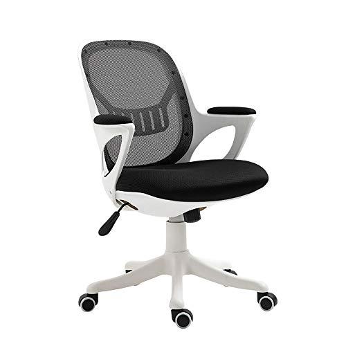 RUNXIAN Simple ordenador silla ergonómica Silla de oficina que compite con la computadora Silla respaldo y el asiento Altura Silla...