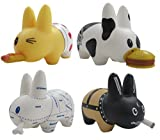 Kidrobot Smorkin Labbit Vinyl Toy 2.5 inch Set of 4