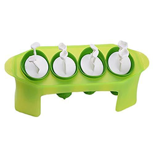 Eiswürfelform Silikon Eiswuerfel Mit Deckel Ice Tray Ice Cube, Kühl Aufbewahren, LFGB Zertifiziert - Silikon Gefrorene Eisform Saft Eis am Stiel Maker Ice Cube Mould 4 Cell - Blau ( 4er pack ) (Saft Seife)