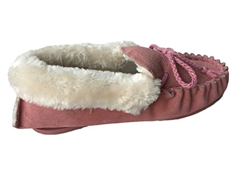 KURU , Chaussons pour femme Pink Fur Cuff