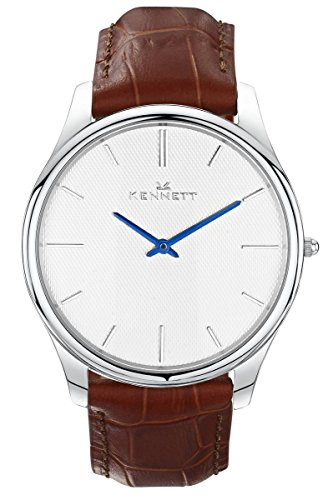 Mens Kennett Kensington Silver White Light Brown Watch KSILWHLGTBRN