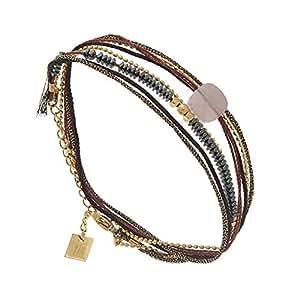 Zag Bijoux Bracelet multirangs Miyuki Hivernale Rose (doré)