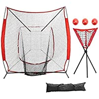 CN-WSC Red de Entrenamiento para Béisbol Red de práctica de béisbol Practica de Softbol Red de Entrenamiento de Tubos de Acero Softball, bateo, Lanzamiento, Captura 7 ftjc×7 ft
