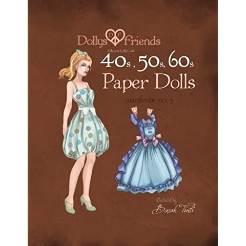 Dollys and Friends 1940s, 1950s, 1960s Paper Dolls: Wardrobe 3 Jolly and Lolly Love vintage (50s 60s Dress)