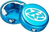 Reverse Griff Endkappen geschlossen 2 Stück hell blau