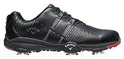 Callaway Herren Chev Mulligan Golfschuhe Schwarz Black/Crimson, 44.5 EU