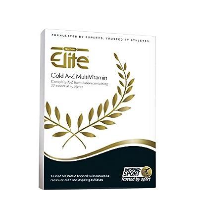 Healthspan Elite Gold A-Z MultiVitamin | 27 Vitamins & Minerals | Full Vitamin B Complex, A C D E - 120 tablets by Healthspan