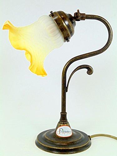 Lampada ottone brunito,tavolo,scrivania,lampade stile usato  Spedito ovunque in Italia