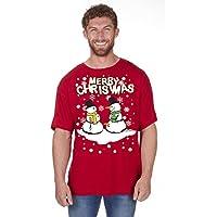 Adulti Novità Di Natale Explicit Festive Divertente Grezzo Natale T-Shirt