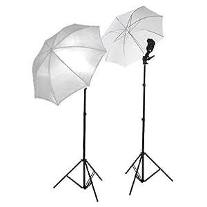 Studio Umbrella Light Setup with Bracket and Stand (Silver and Black)