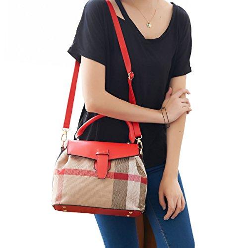 DISSA ES831 neuer Stil PU Leder Deman 2018 Mode Schultertaschen handtaschen Henkeltaschen,270×140×220(mm) Rot