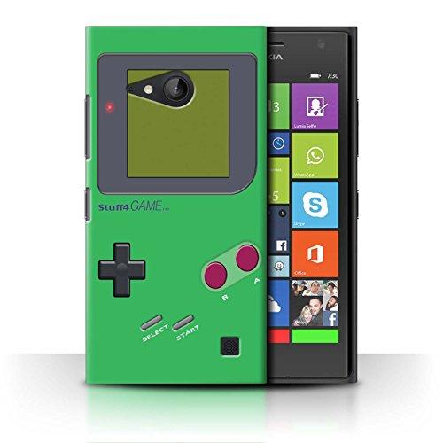 Stuff4 Hülle / Case für Nokia Lumia 730 / Grün Muster / Videogamer/Gameboy Kollektion