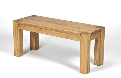 Naturholzmöbel Seidel Sitzbank Rio Bonito 80x38cm, Bank Massivholz Pinie, geölt und gewachst, Farbton Honig hell, Optional: passende Tische - Barhocker Eiche Natur