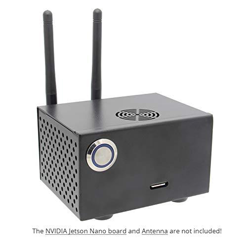 Geekworm Jetson Nano Passendes Metallgehäuse/Gehäuse mit Power- und Reset-Schalter für das NVIDIA Jetson Nano Developer Kit -