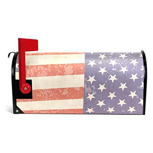 Bennigiry vintage bandiera americana magnetico cassetta di grandi dimensioni 64,8x 52,8cm