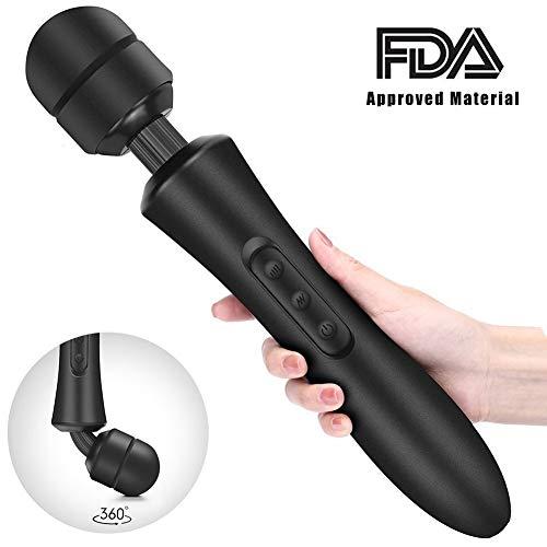 Massage StabMassager Vibrator Stab-vibrierender ave 20 Mod & egrave; die 8 Geschwindigkeiten Vibration Leistungsstarke USB Rechargeableles, Muskelschmerzen und R & eacute; cup & eacute; ration Sport - Aves-cup