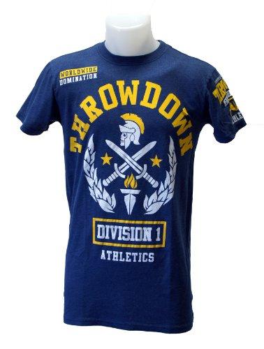 Throwdown Uni T-Shirt by Affliction Knighted, navi Blue, XXL, 60-1117 - Affliction T-shirt Aus Baumwolle