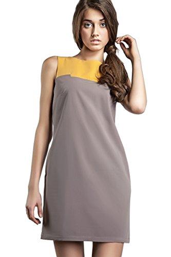 Nife Enchanteur robe bicolore, blanc Moka