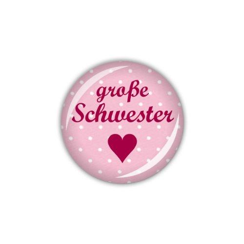Preisvergleich Produktbild lijelove Buttons, 04-00V8, große Schwester, rosa, 25 mm