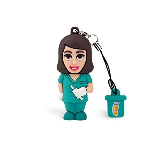 Professional USB Krankenschwester Damen, Lustige Sticks USB Flash Drive 2.0Memory Stick Datenspeicher, Schlüsselanhänger, Pendrive 8GB