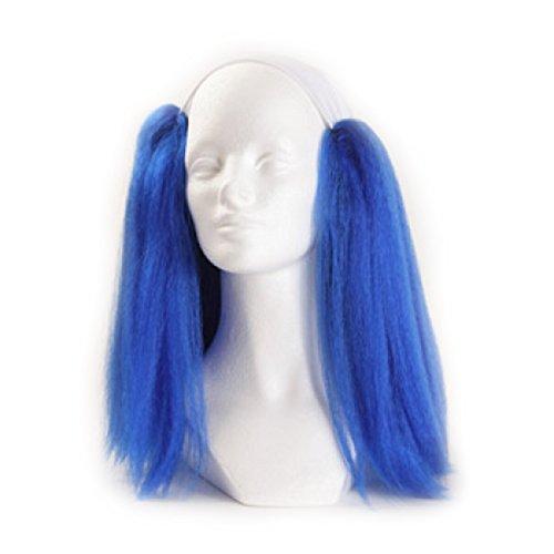 Clown Antics Blue Bald Clown Straight Wig 888f1b03ff16