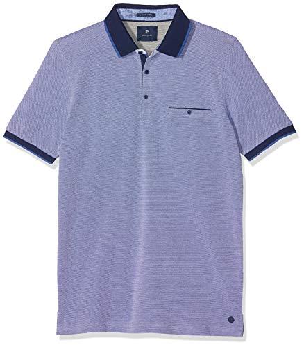 Pierre Cardin Herren Premium Cotton Pique Tricolor Airtouch Poloshirt, Blau (Brazil 3302), Large -