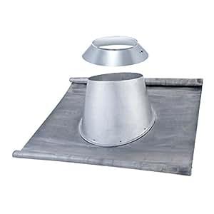 Solin et larmier embase plomb totale toit tuile 10-30° Inox DP d200 Réf 197520