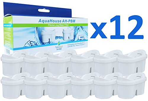 AquaHouse AH-PBM filtros de cartucho compatibles con Brita Maxtra - 12 unidades