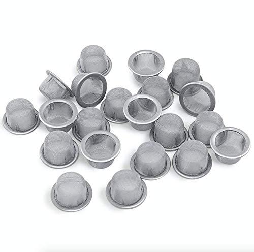 Höhlenrausch 10 Stück Siebe für Pfeife, Bong, Shisha & Vaporizer | aus rostfreiem Stahl | vorgestanzt | 8x16mm