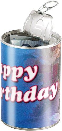 infactory Geschenkedose: Geschenkdose Happy Birthday: Originelle Präsent-Verpackung (Geschenk in Dose verpacken)