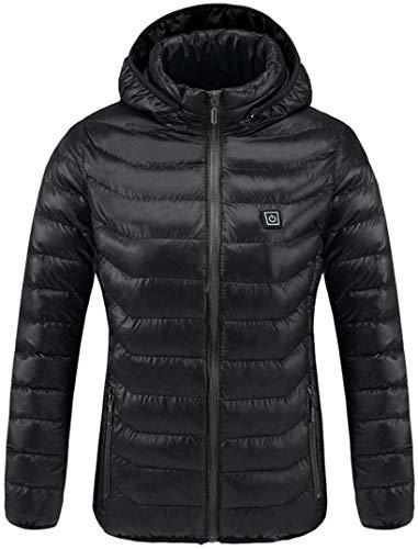 FEE-ZC Universelle elektrische beheizte Jacke mit Kapuze Baumwollmantel USB heizung Kleidung waschbar Winter warm für Mann Outdoor Camping wandern