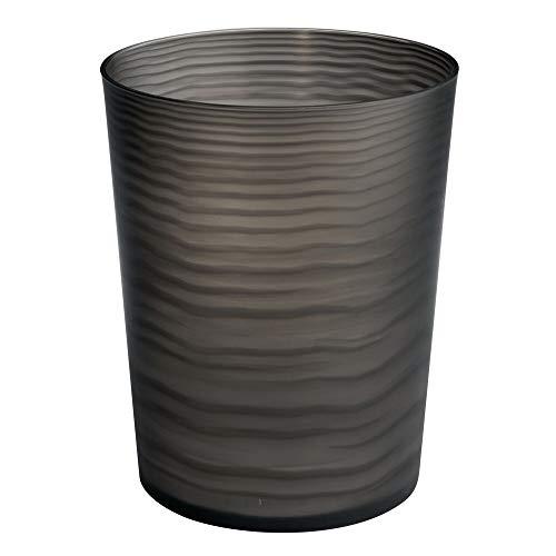 mDesign Papierkorb Büro, schwarz - Material: beständiger Kunststoff - hochwertiger Mülleimer Küche - Design Abfalleimer