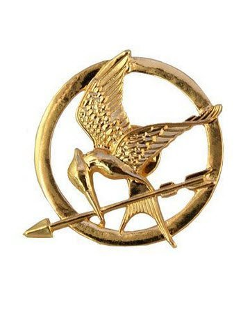 Hunger Games Gold 18K Katniss Mockingjay Brosche / Pin
