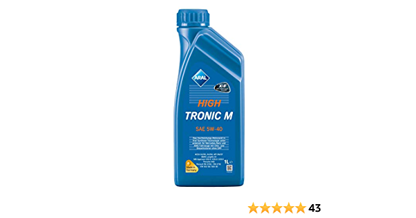 Aral High Tronic M Sae 5 W 40 Motor Oil 1 Litre Auto